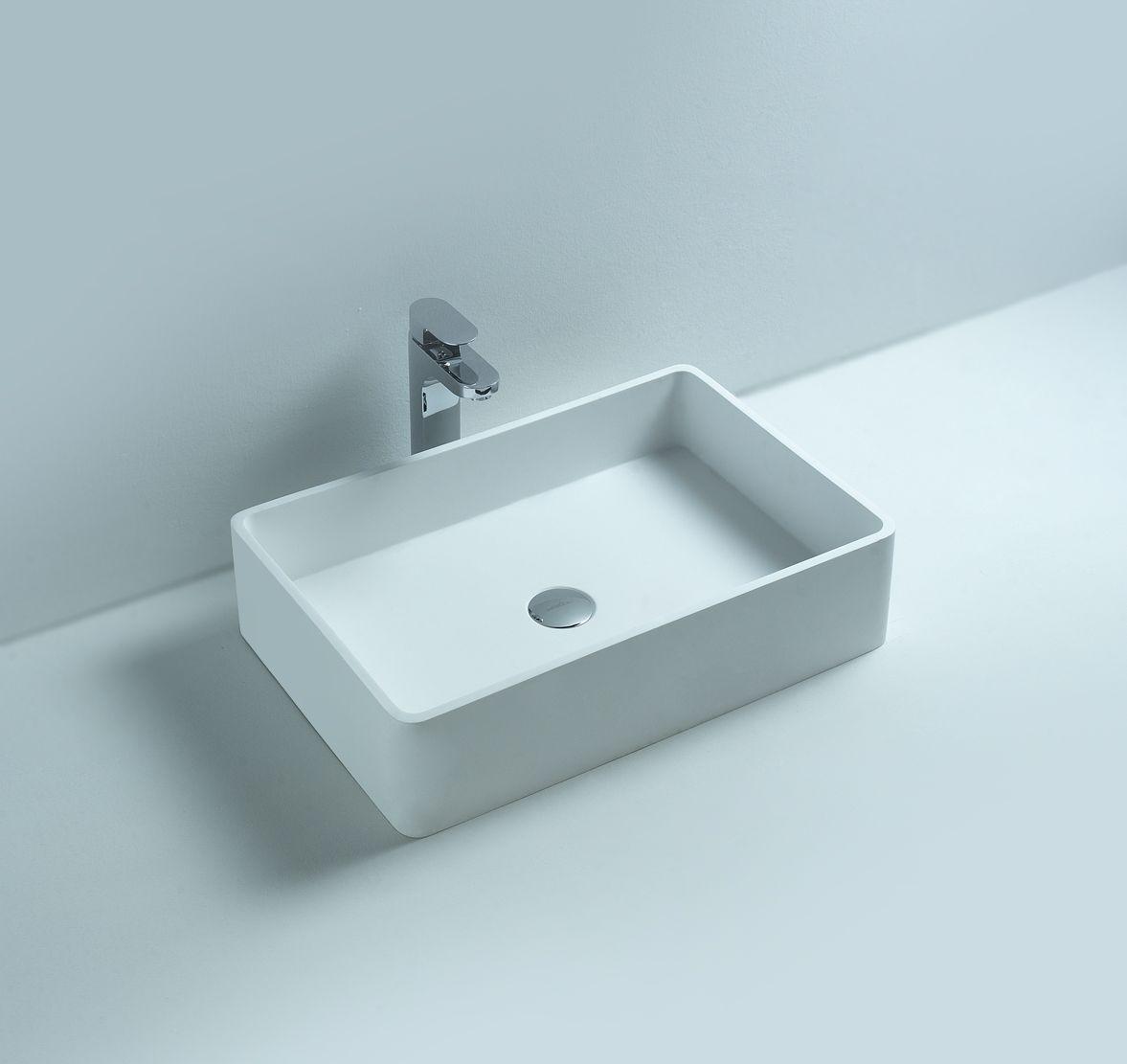 Lavabo Lena BD 2012 de color blanco mate, con medidas de 600x150x400 ...