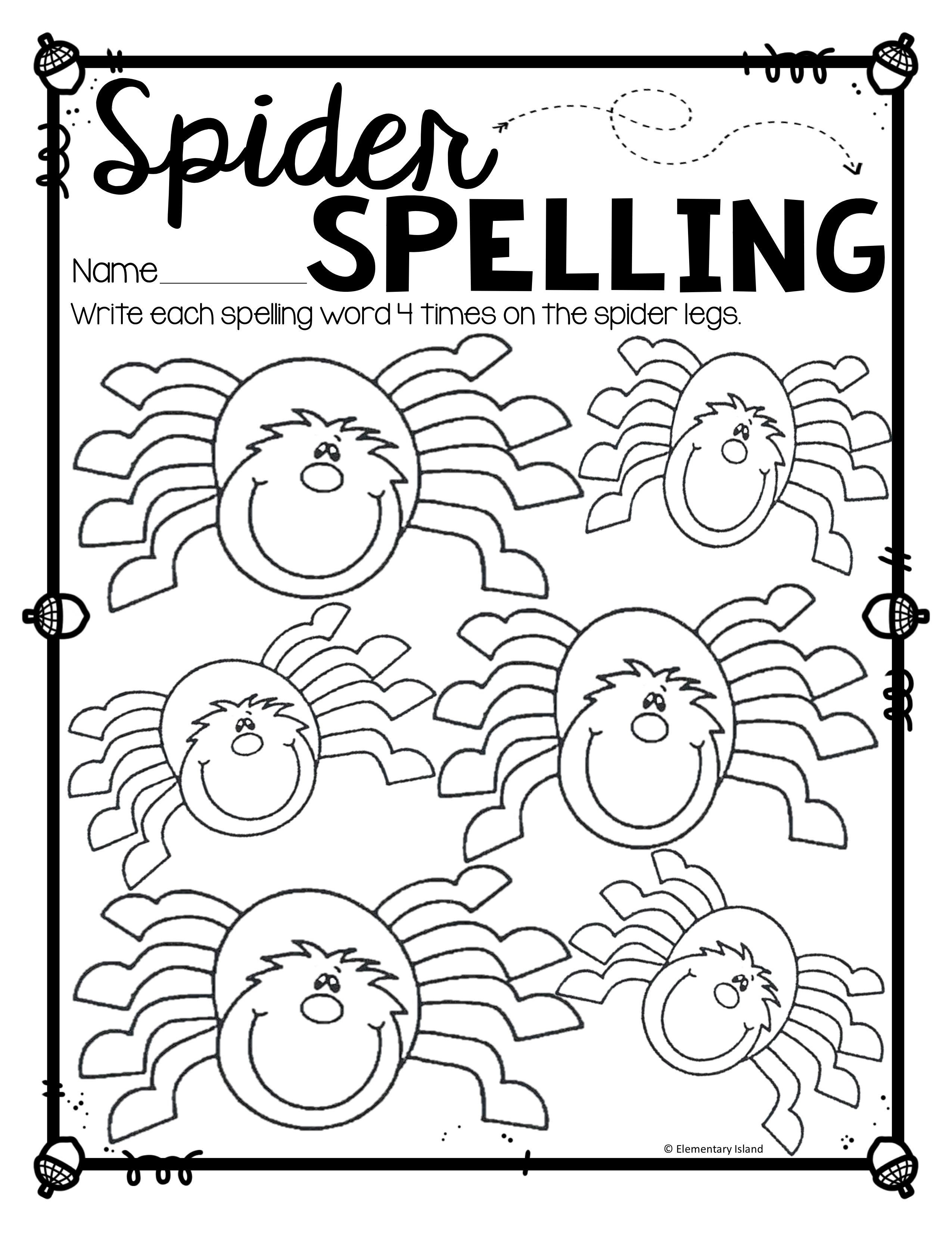 Halloween Activities For Spelling And Fall Activities For