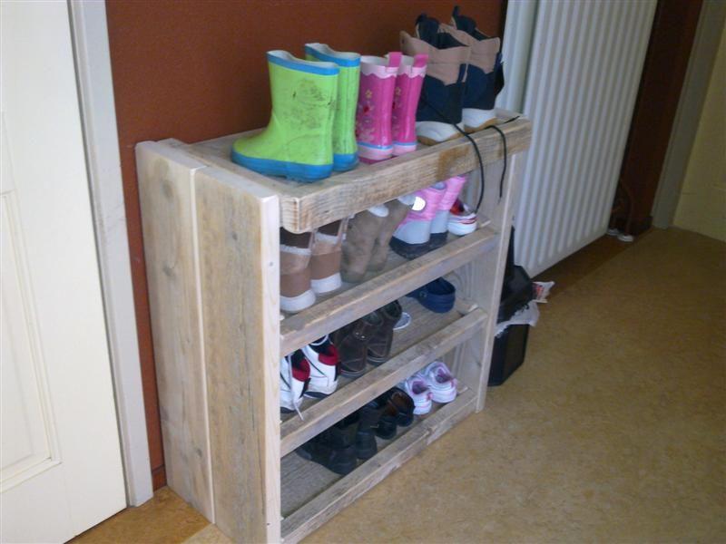steigerhouten schoenenkast maken - google search | zelf maken in