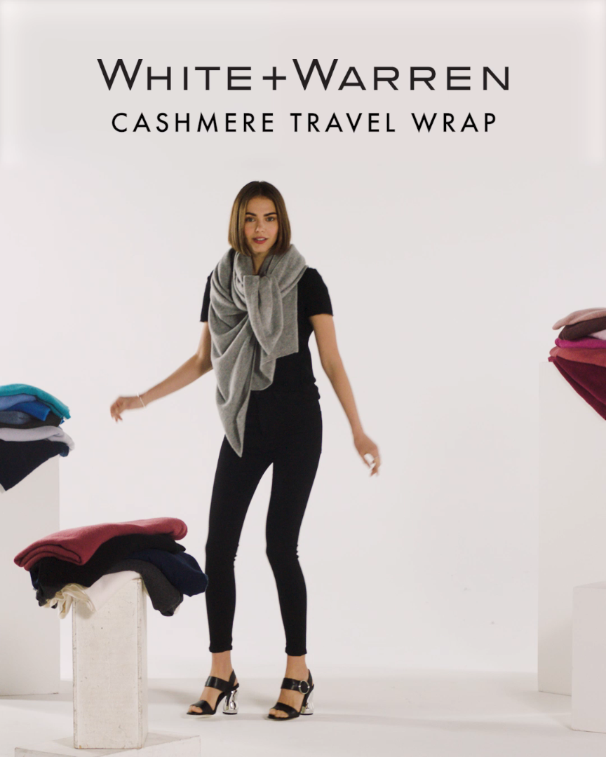 Six Ways to Wear the Cashmere Travel Wrap