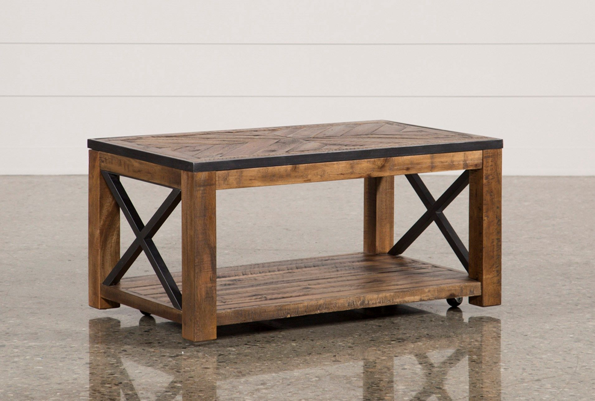 Tillman Rectangle Cocktail Table W/Casters Table