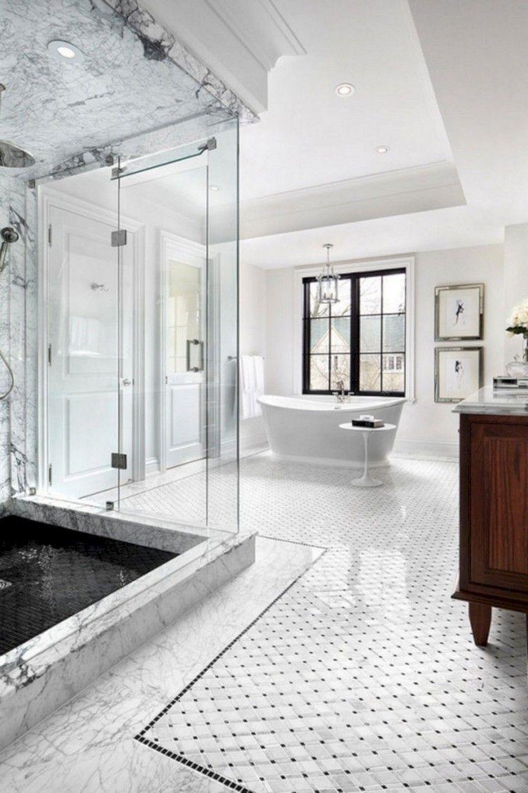 65 Elegant Master Bathroom Design Ideas For Amazing Homes Bathroomideas Bathroomde Bathroom Design Luxury Transitional Bathroom Design Bathroom Tile Designs