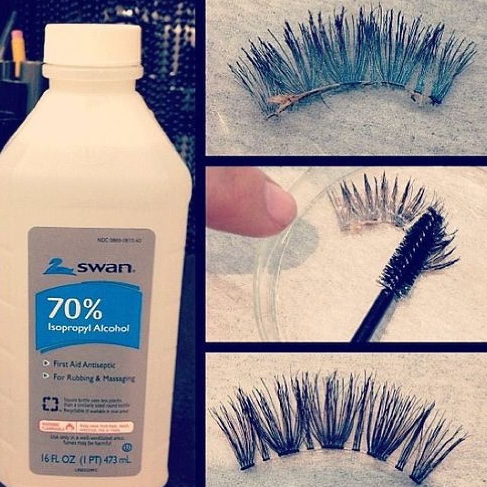 This is a great way to clean your eye lashes and make them