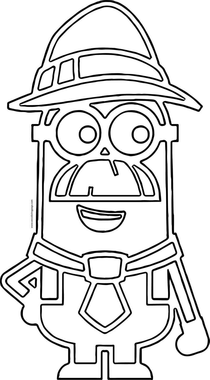 Old Minion Minions Outline Coloring Page   Coloring pages ...