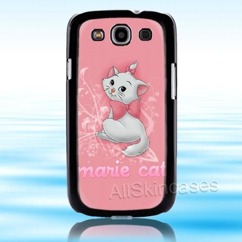 Marie Cat Cute Pink Cat Samsung Galaxy S3 Case Cover 1 Marie Cat Galaxy S3 Cases Pink Cat