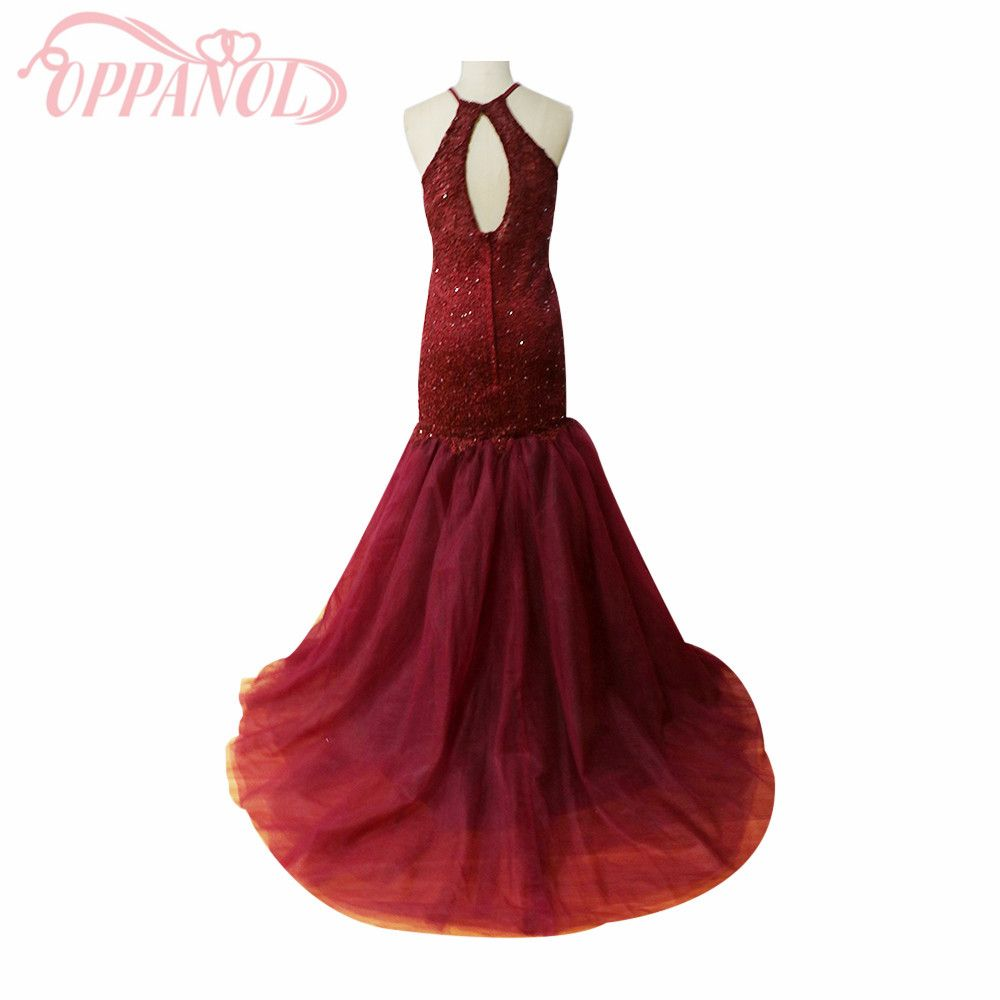 Click to buy ucuc fashion wijn rode mermaid prom dress sexy