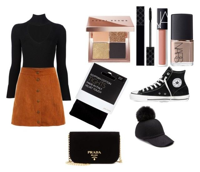 """""""First day fall x🎉"""" by macie-miller-1 on Polyvore featuring Bobbi Brown Cosmetics, Gucci, NARS Cosmetics, Cushnie Et Ochs, House of Lafayette, John Lewis, Converse and Prada"""