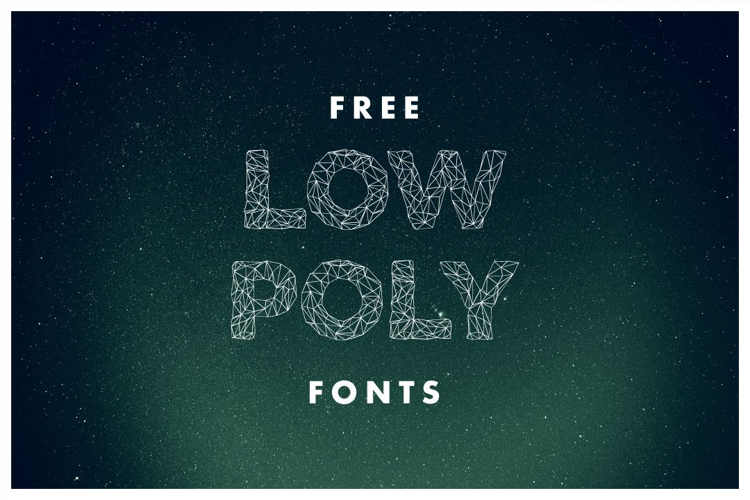 11+ Free Low Poly Fonts
