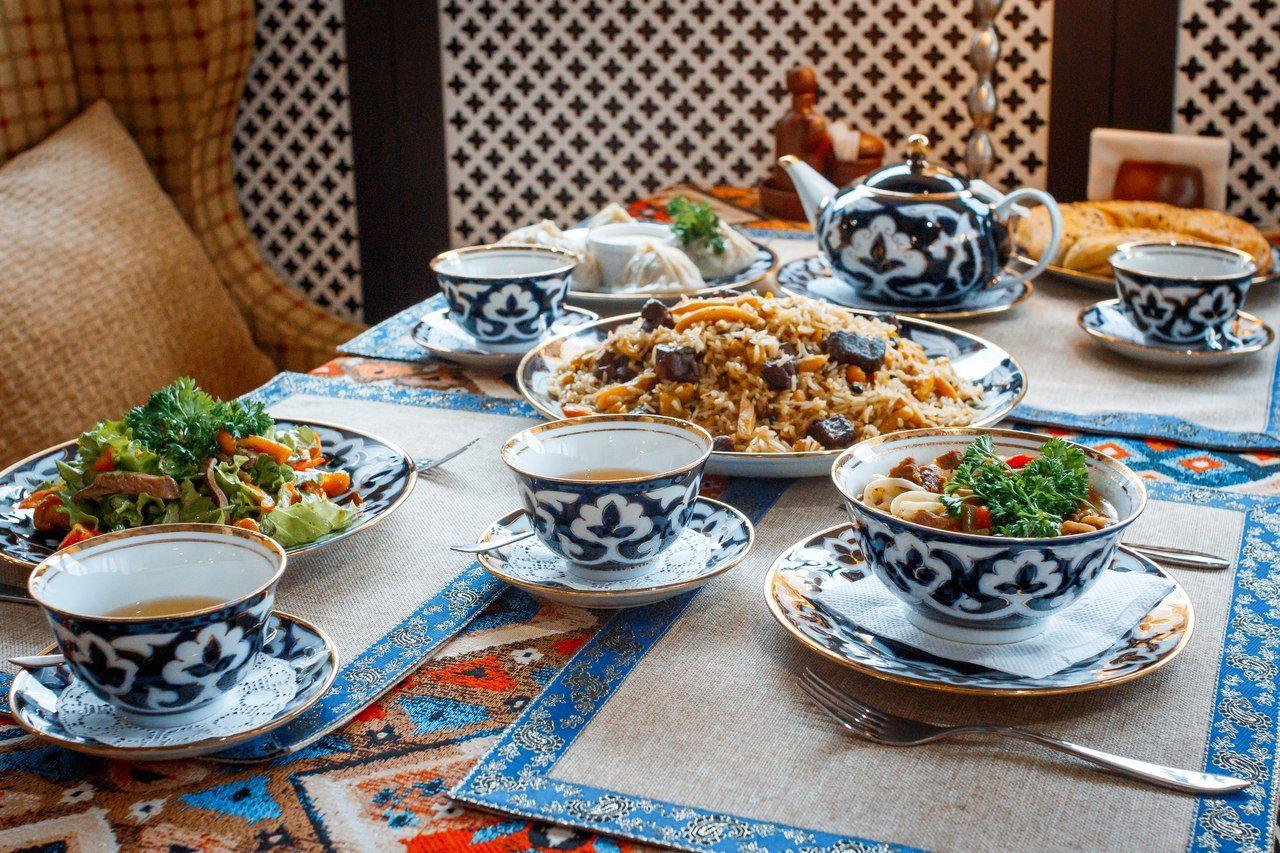 Узбекский стол фото
