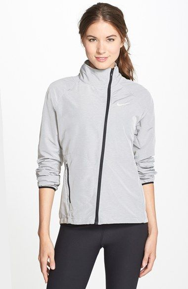 Nike 'Run Fast' Water Repellant Moto Running Jacket available at #Nordstrom