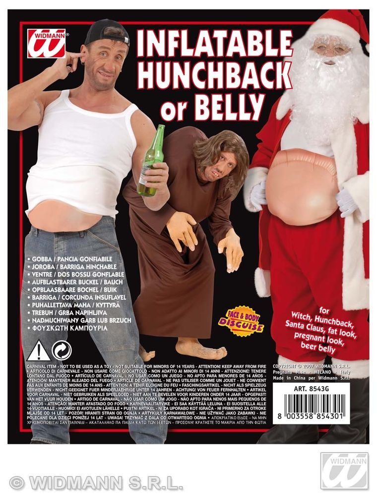 FANCY DRESS CHRISTMAS INFLATABLE HUNCHBACK//BELLY