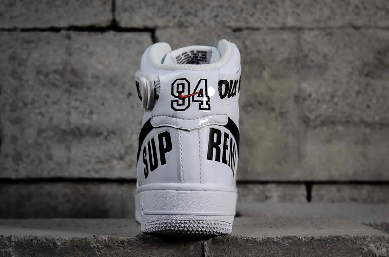 online store 6719c 80349 supremee® x nike air force 1 high sp world famous 94 white black 698696-