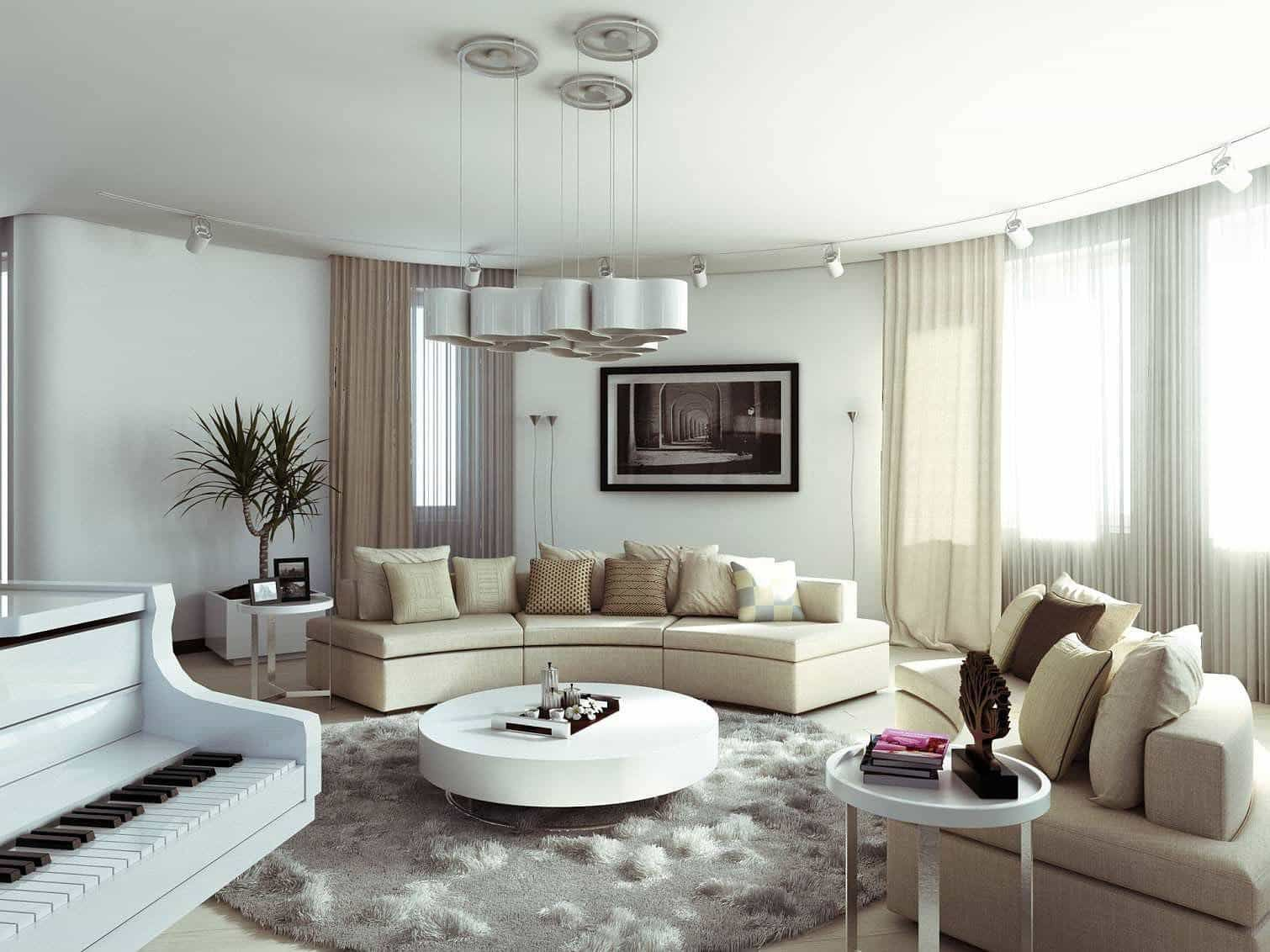 Enhance Your Room With Round Area Rugs Round Living Room Sofa