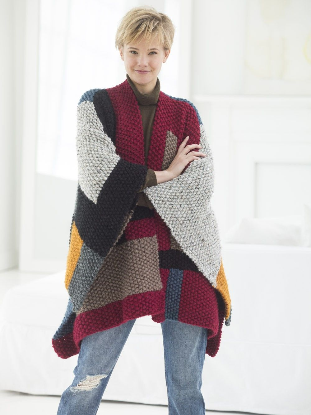 Palermo Poncho (Knit) - Patterns - Lion Brand Yarn | myknitstuff ...