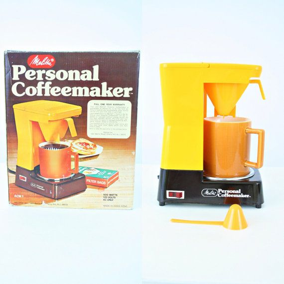 vintage 70s MELITTA personal COFFEEMAKER by PasseNouveauVintage, $25.00