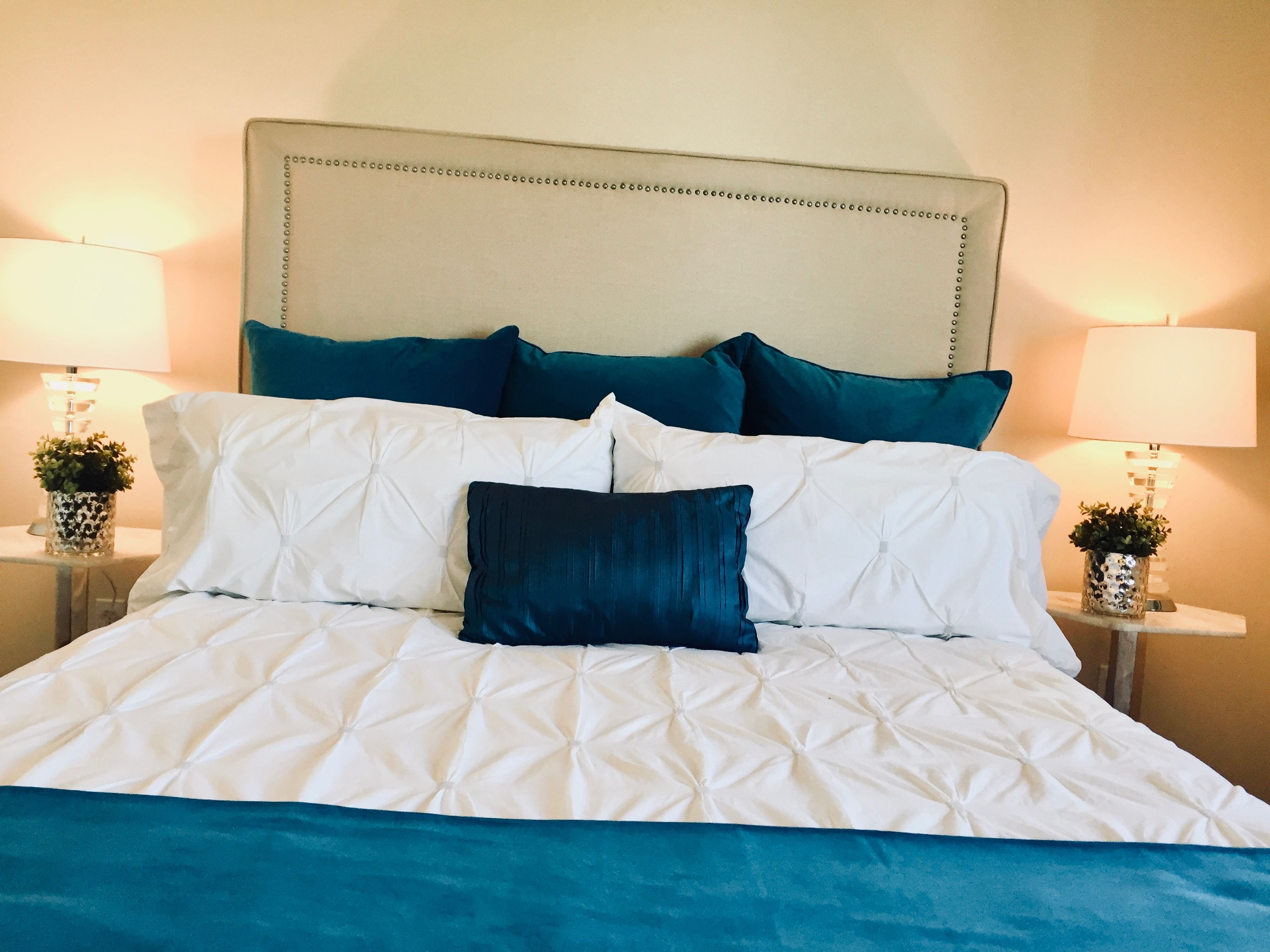 Hawkwood master bedroom styled by Transcend Staging Home