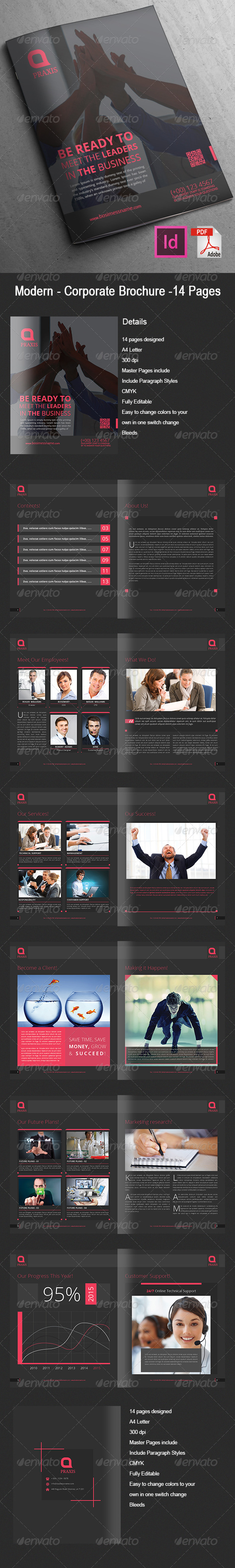 Modern - Corporate Brochure 14 Pages