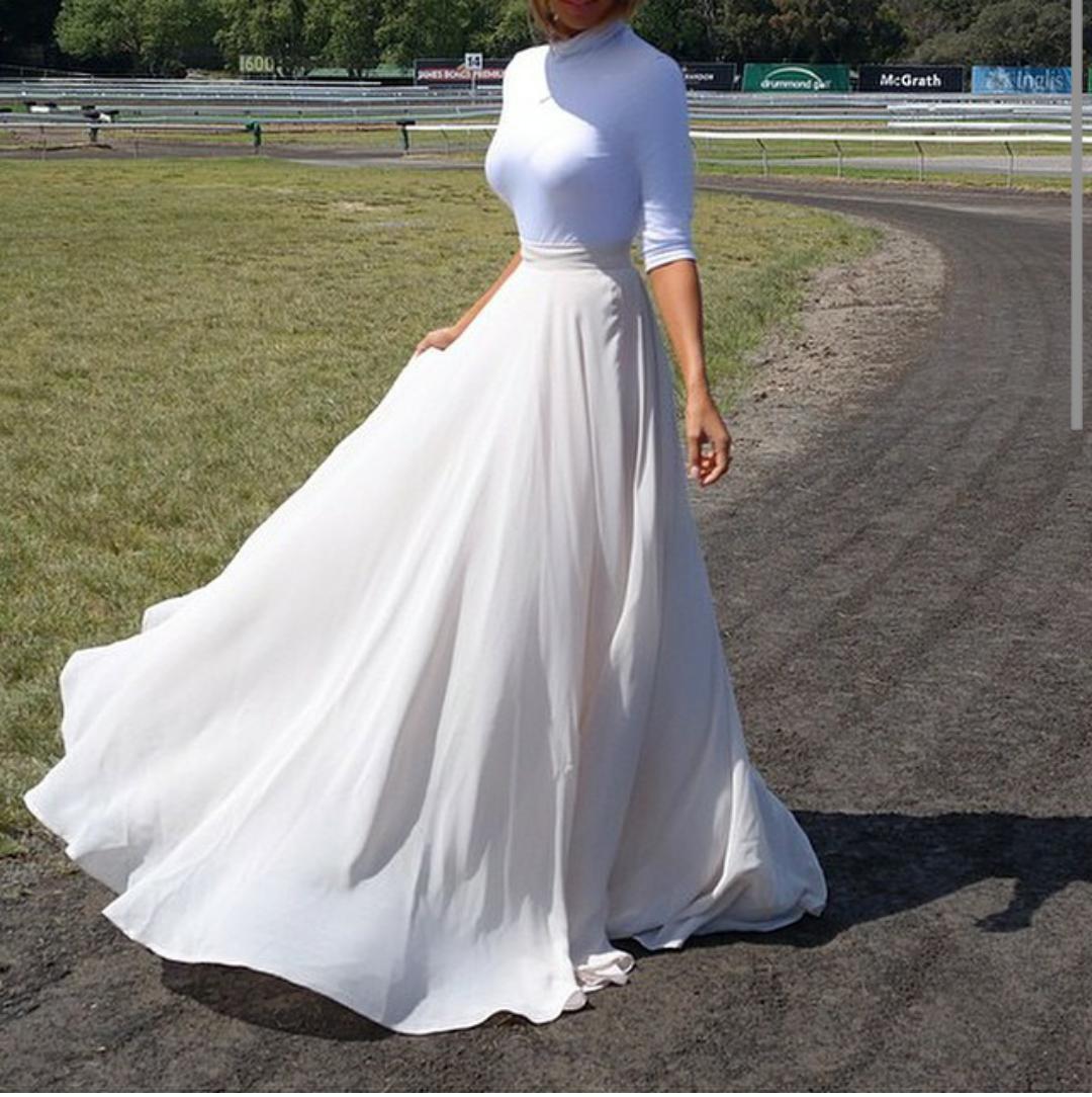 white maxi. Fashion, Sydney fashion blogger, High