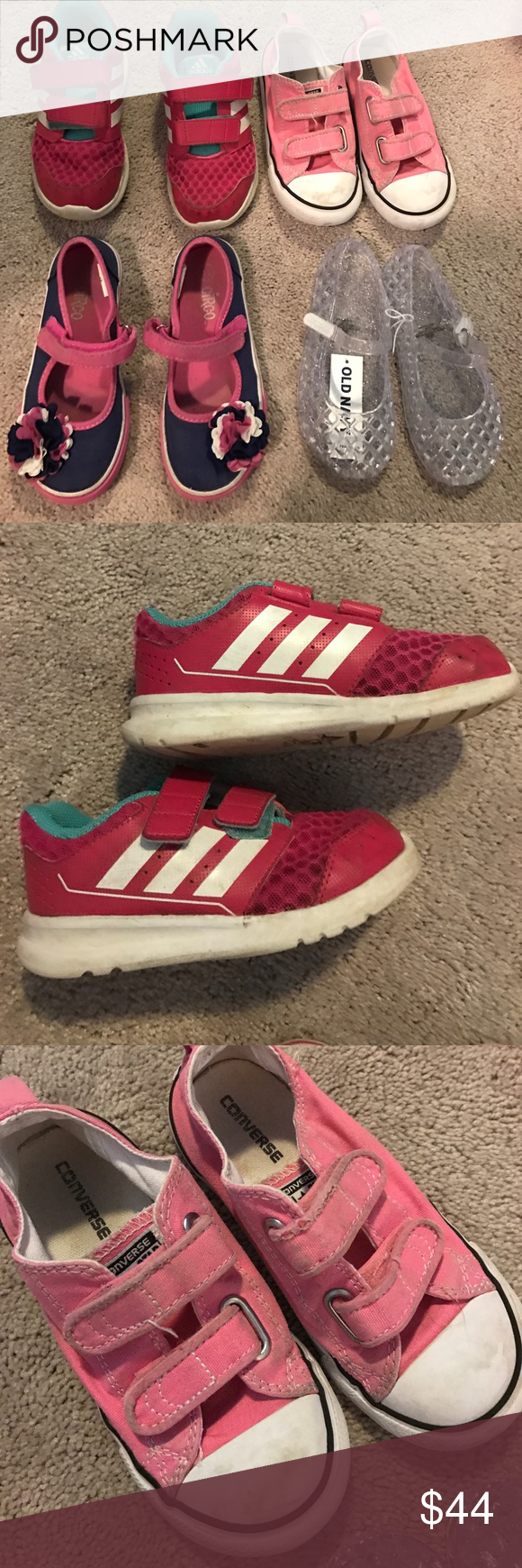 831ee7d6a4e Toddler girls size 10 shoe bundle Adidas