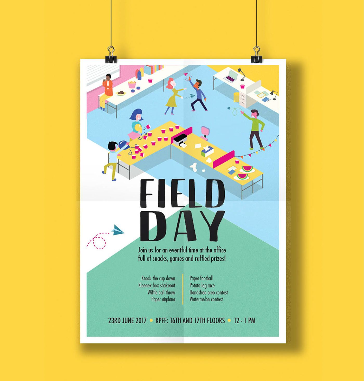 Field Day Poster Design On Behance Poster Design Graphic Design Posters Event Poster