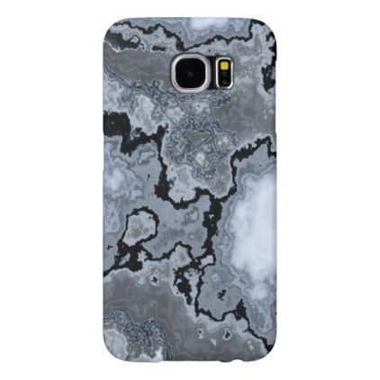 (blue & black marble) Galaxy S6 Samsung Galaxy S6 Case - stones diy cyo gift idea special
