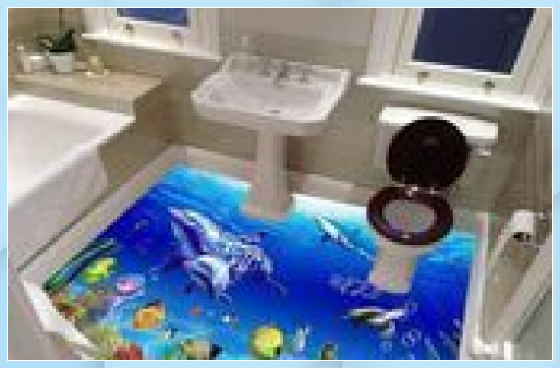 3d Bodenkunst 3d Bodenbelag Fur Badezimmer 3d Unterwa In 2020 Badezimmerboden Epoxit Boden Bodenbelag Fur Badezimmer
