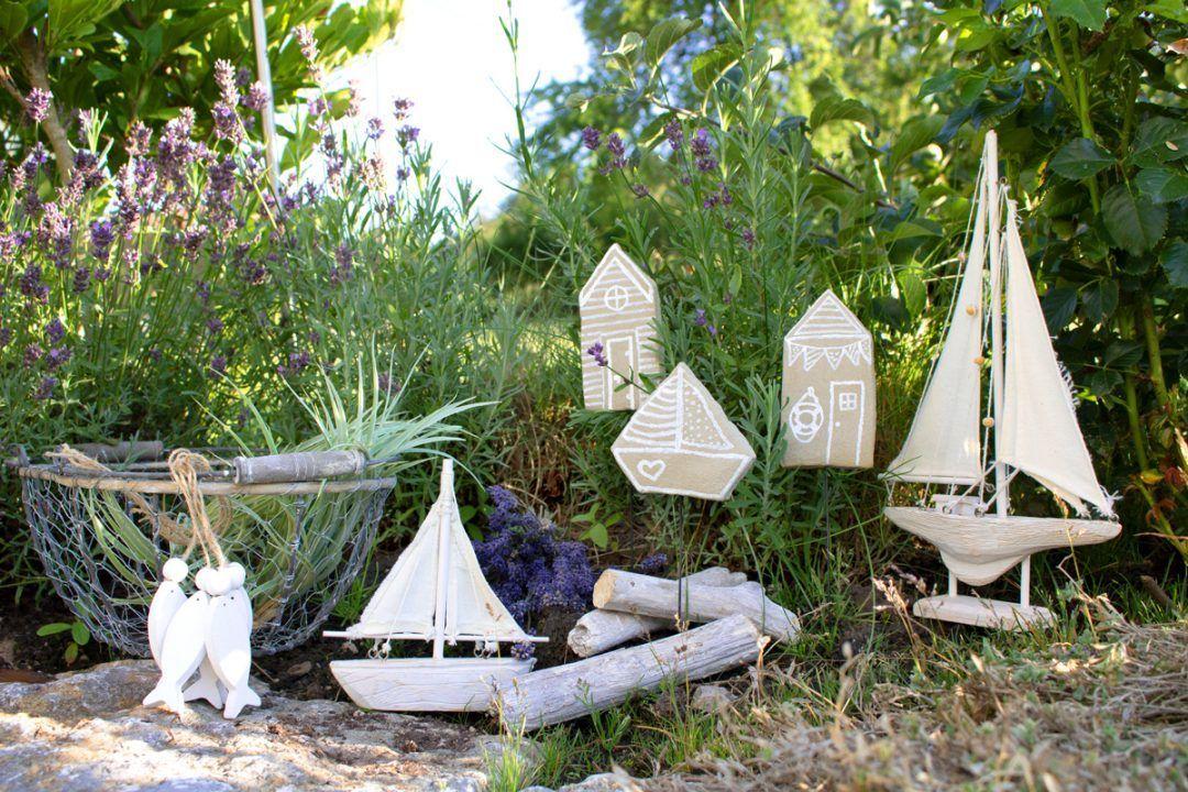 Maritime Pflanzenstecker aus Knetbeton  Kreativliebe