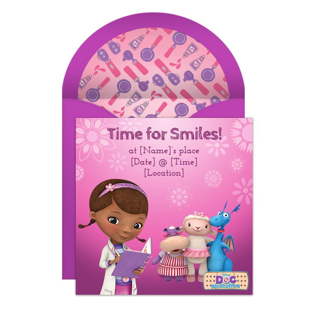 Throw The Perfect Doc McStuffins Party With This Freebie E Vite From Disney Family