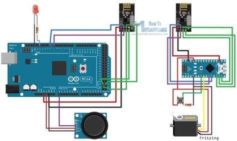 Arduino Wireless Communication NRF24L01 Circuit Schematic