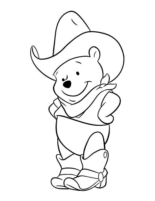 Cowboy Winnie The Pooh Coloring Page Toy Story Coloring Pages Disney Coloring Pages Cartoon Coloring Pages