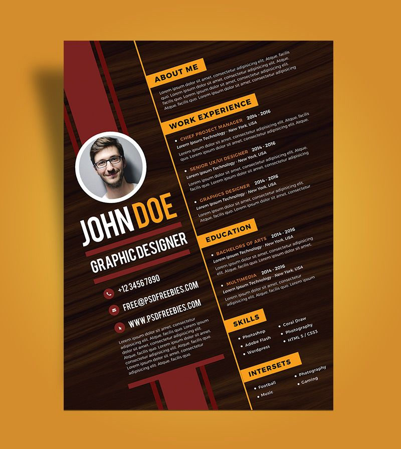 graphic designer resume Google Search Resume design