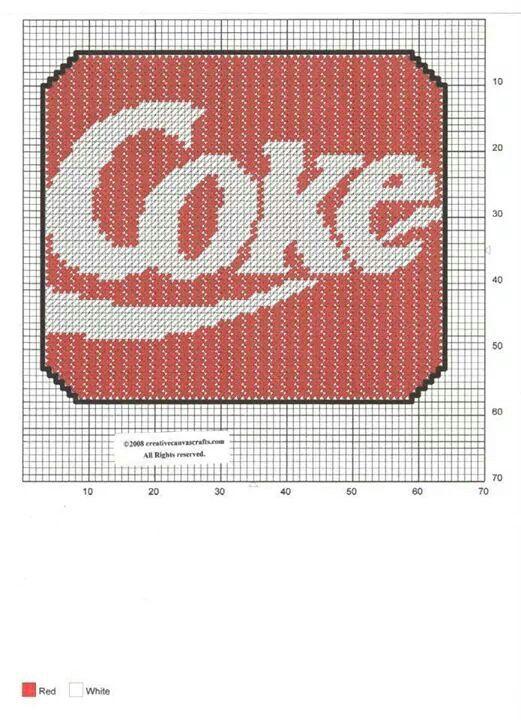 Coke Mouse Pad Plastic Canvas Patterns Plastic Canvas Coasters Plastic Canvas Crafts