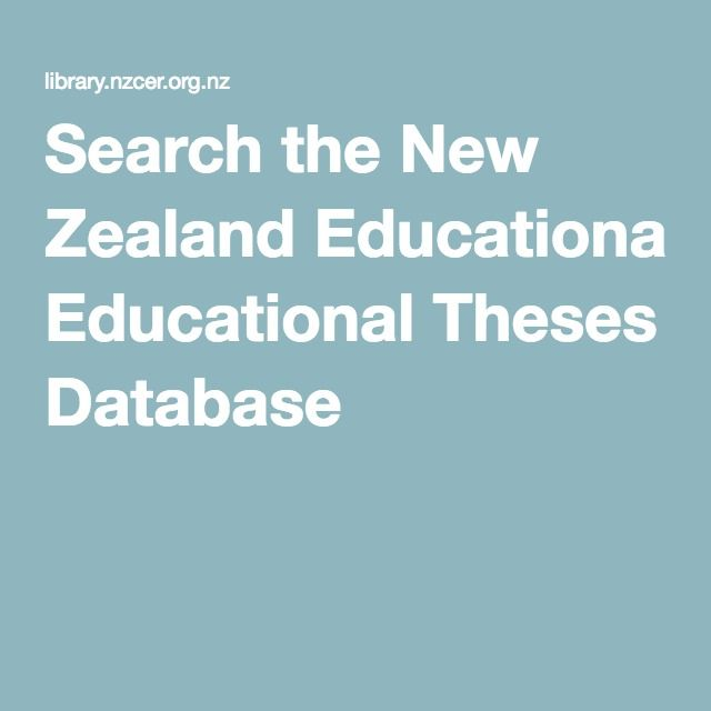 Search the New Zealand Educational Theses Database EBP evidence research