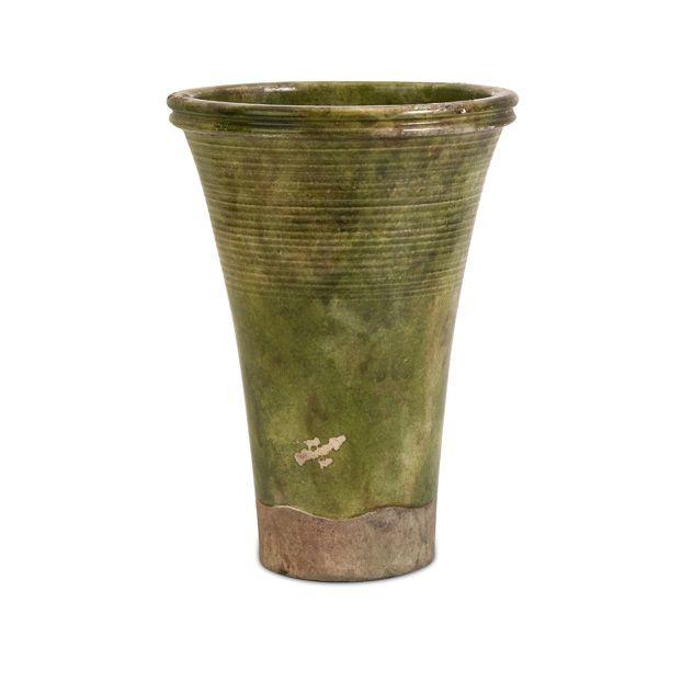 Vintage Tall Green Vase Vases Pinterest