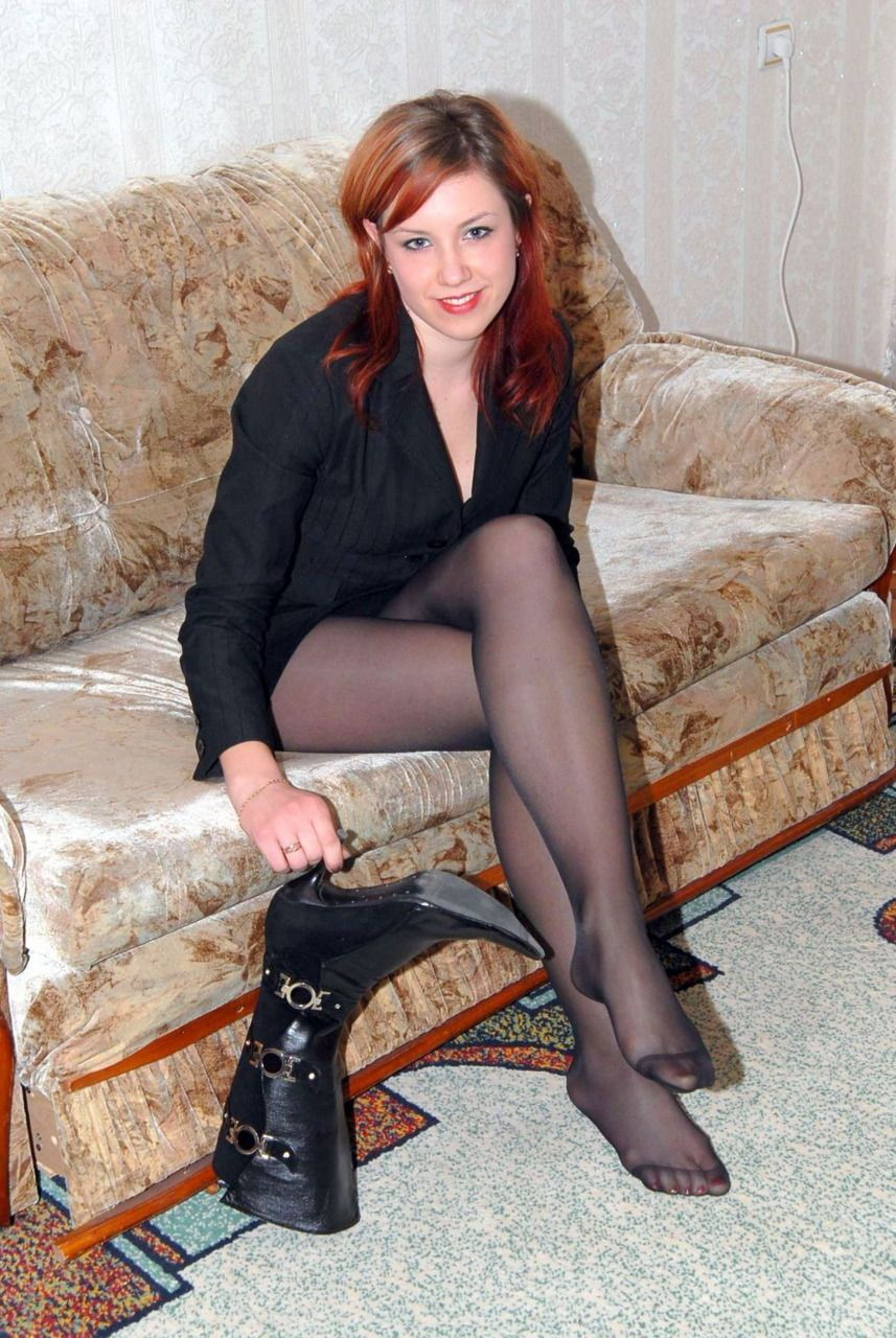 Boots black pantyhose