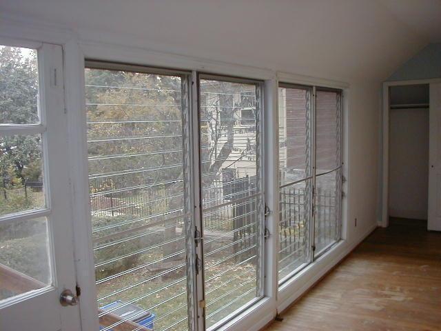 Jalousie windows on enclosed back porch most likely done in the. & Jalousie windows on enclosed back porch most likely done in the ...