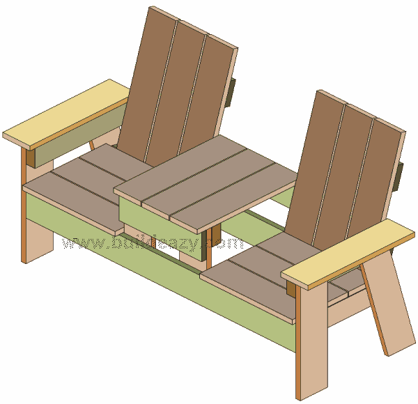 How To Build A Two Seater Bench With Built In Table Out Of 1x6 Lumber Deck Design Plans Woodworking In An Apartment Diy Deck