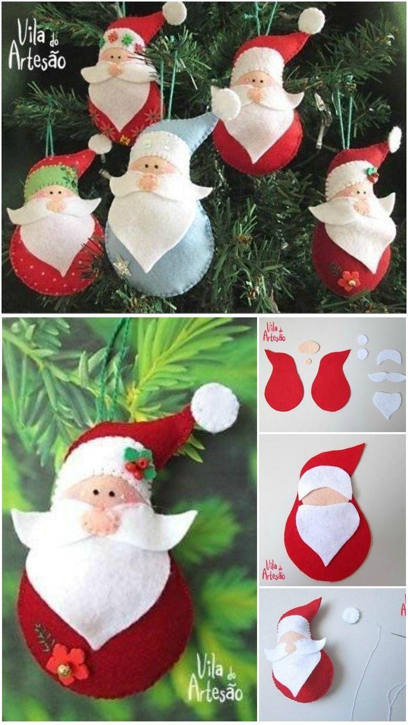 DIY Santa Claus Sewing Patterns and Ideas   Christmas craft ...