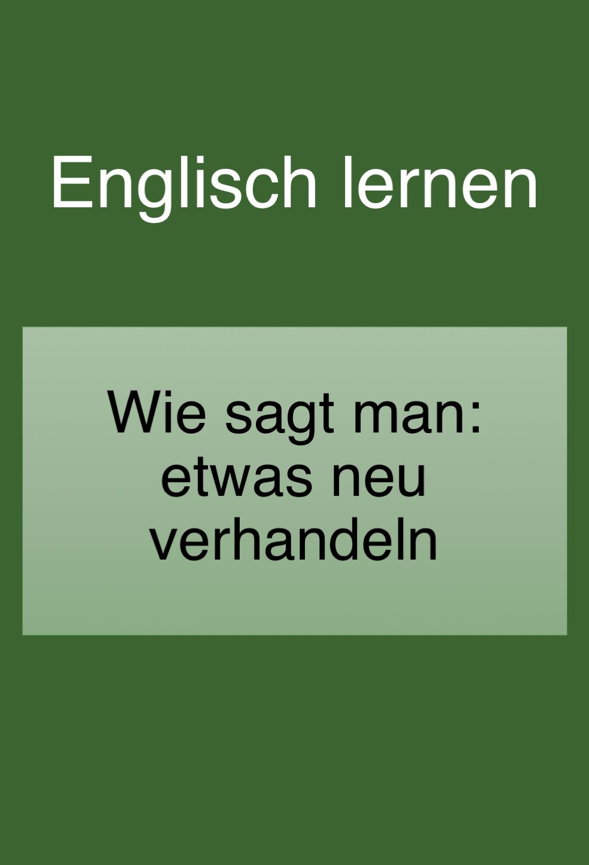 Vereinbarung Auf Englisch
