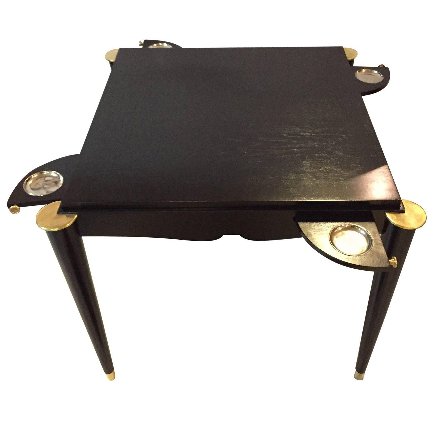 Ebonized MidCentury Modern Card Or Game Table Pinterest Game - Mid century modern card table