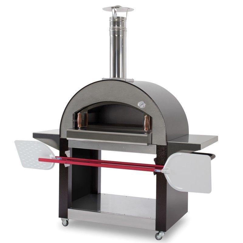Forno A Legna Arredamento.Forno A Legna 4 Mori In Acciaio Inox Capacita 4 Pizze Karmek One