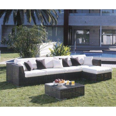 Soho 6 Piece Deep Seating Group With Cushions Fabric: Manchester Sienna «  ZPatioFurniture.com. Outdoor Wicker FurnitureSectional ...