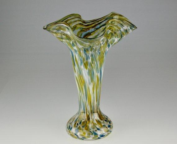 Tall Flute Vase Hand Blown Art Gl by Eric W. Hansen in ... on