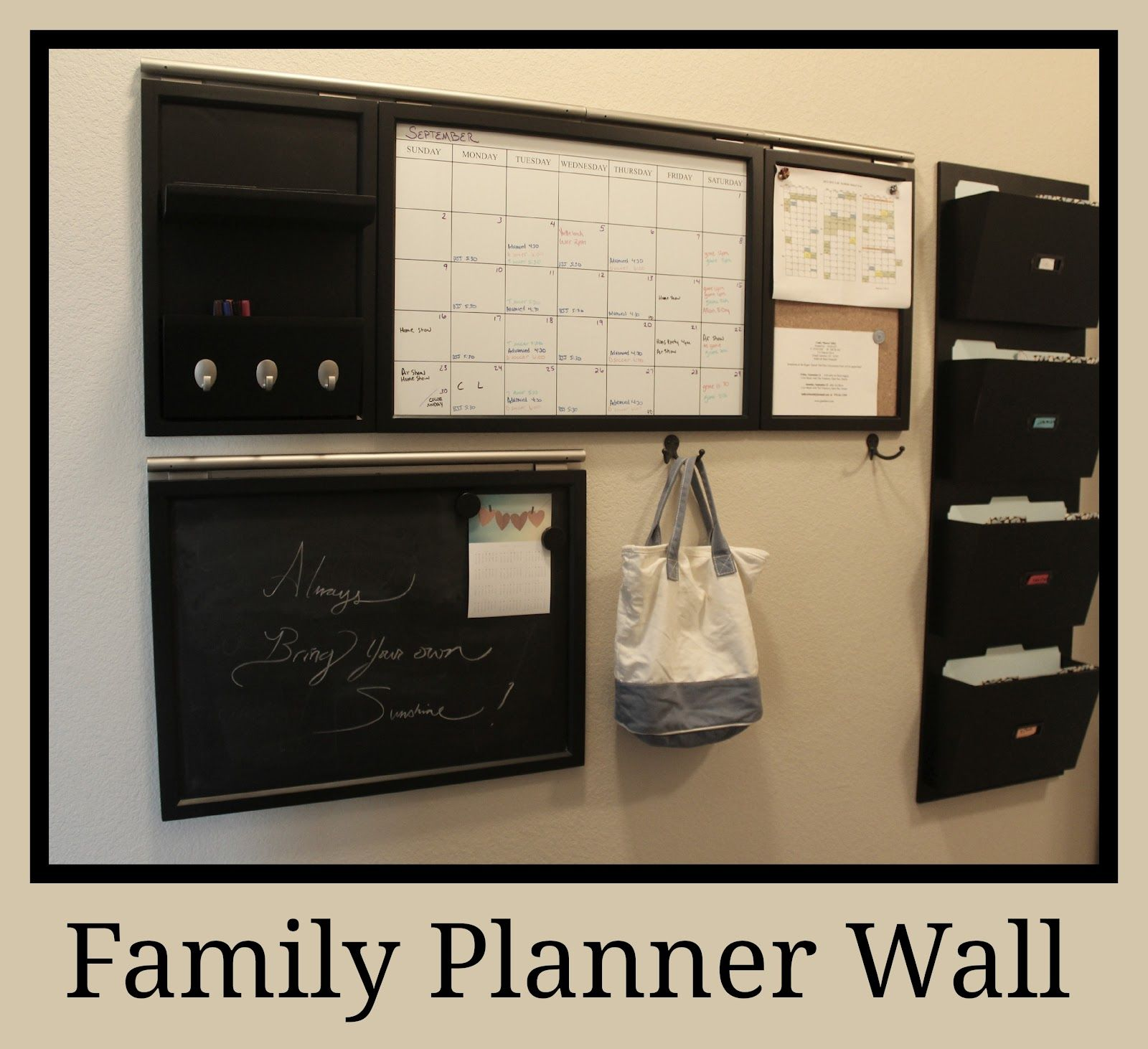 Moore Minutes The School Year Organized Our Family Planner Wall