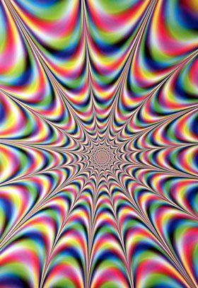 Trippy Color Optical Illusions Art