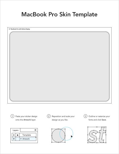 Laptop Skin Template