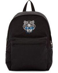 KENZO | Black Nylon Tiger Backpack |  Lyst