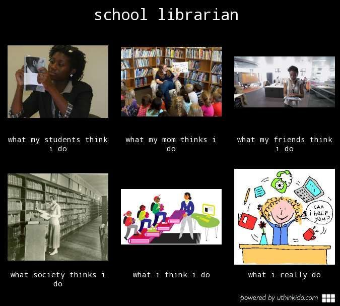 School Librarian What People Think I Do What I Really Do Meme