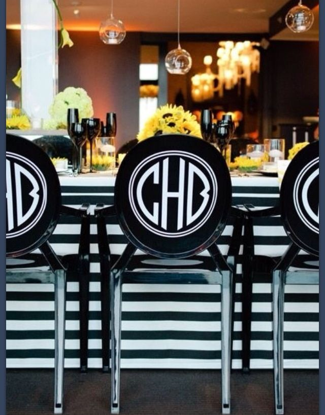 Monogrammed chairs for the home