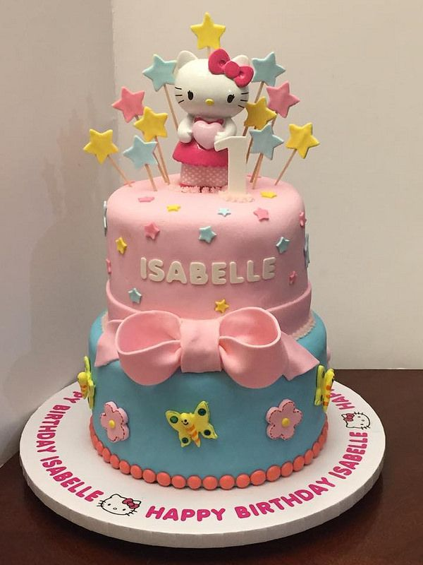 Hello Kitty 2tier Birthday Cake Birthday Cakes Pinterest Hello